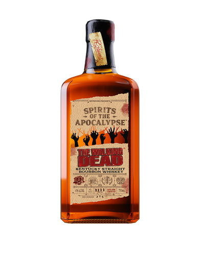 The Walking Dead Kentucky Straight Bourbon Whiskey bottle