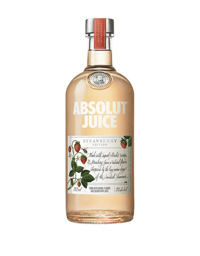 Absolut Juice Strawberry Edition bottle