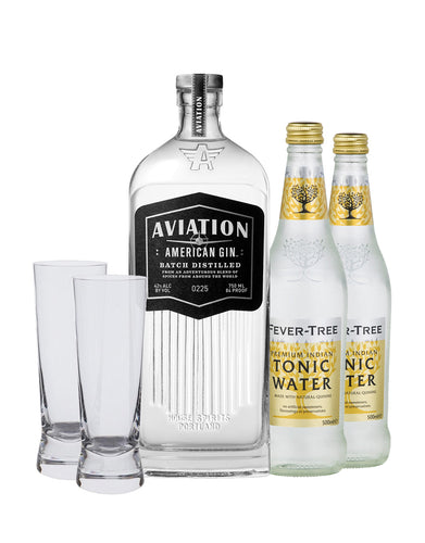 Aviation American Gin with Two Fever-Tree Indian Tonic Waters Gift Set