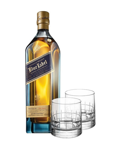 Christofle Coffrets Cadeaux Crystal Whiskey Set with Johnnie Walker Blue Label