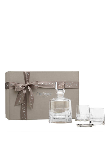 Christofle COFFRETS CADEAUX Crystal Whiskey Set