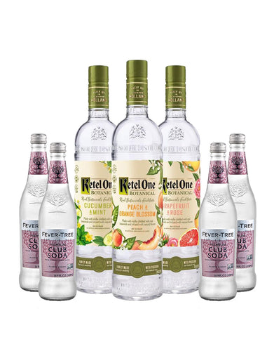Ketel One® Botanical Collection (3 Bottles) with Four Fever-Tree Club Sodas