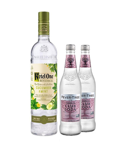 Ketel One® Botanical Cucumber & Mint with Two Fever-Tree Club Sodas