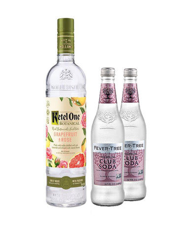 Ketel One® Botanical Grapefruit & Rose with Two Fever-Tree Club Sodas