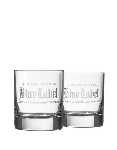 Rolf On the Rocks Glasses Featuring Johnnie Walker Blue Label Logo