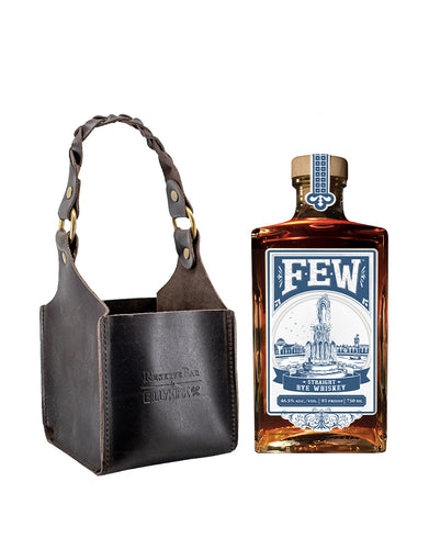 Few Rye with Billykirk Square Leather Bottle Holder