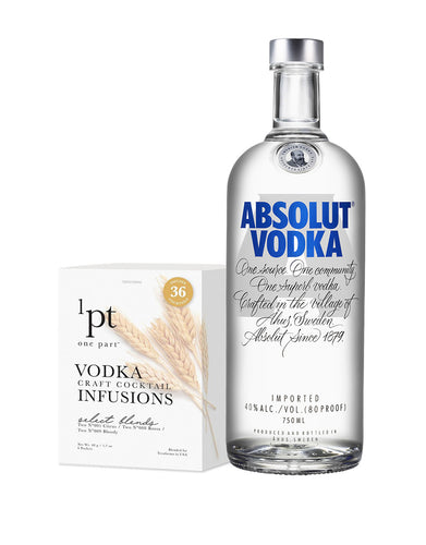 Absolut Original Vodka with 1pt Cocktail Pack - Vodka