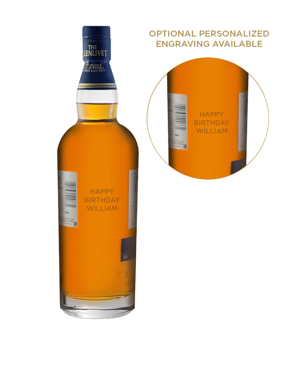 Load image into Gallery viewer, The Glenlivet 18 Year Old Single Malt Scotch Whisky engraved bottle example