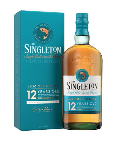 The Singleton of Glendullan 12 Years Old Single Malt Scotch Whisky bottle and case
