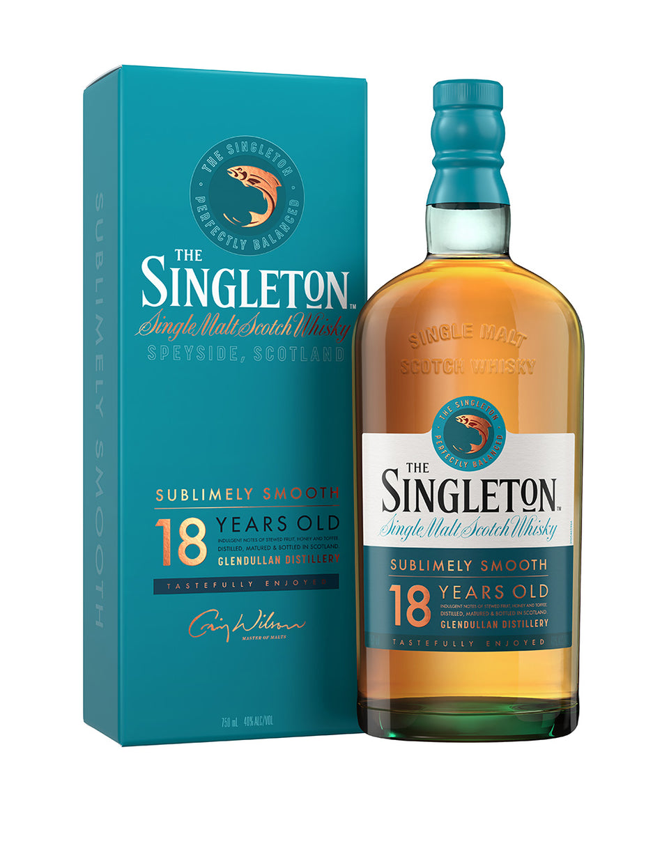 Load image into Gallery viewer, The Singleton of Glendullan 18 Years Old Single Malt Scotch Whisky bottle with case