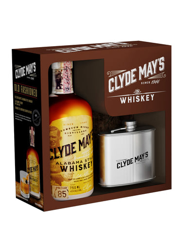 Clyde May's Alabama Style Whiskey with Flask