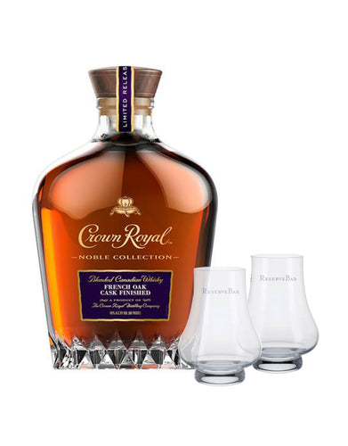 Crown Royal® Noble Collection French Oak Cask Finished Whisky with ReserveBar Branded Glencairn Glasses