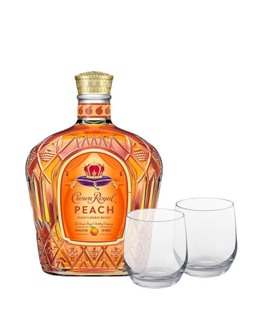 Crown Royal® Peach with Dartington Wine & Bar Tumbler Glasses
