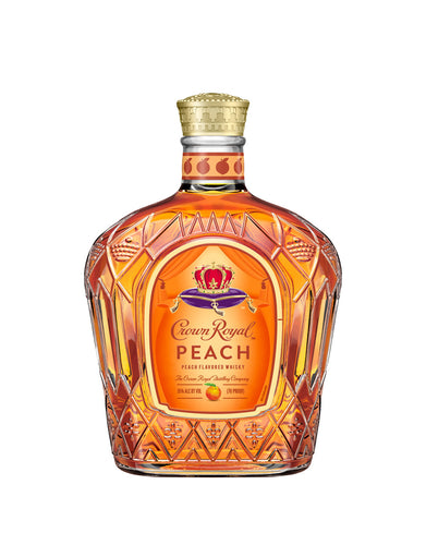 Crown Royal Peach whisky bottle