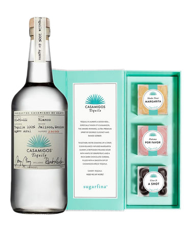 Casamigos Blanco 750ml with Sugarfina x Casamigos Tequila Candy Bento Box