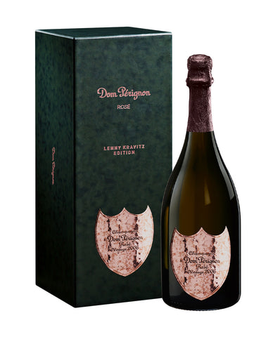 Dom Pérignon Rosé Vintage 2006 Champagne Lenny Kravitz Limited Edition bottle and box