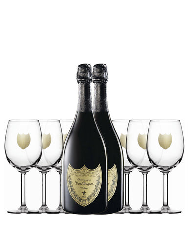 Dom Pérignon Vintage 2009 with Six Branded Glasses