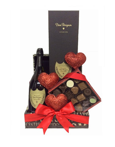 "Dom Pérignon ""The Love Story"" Gift Basket"
