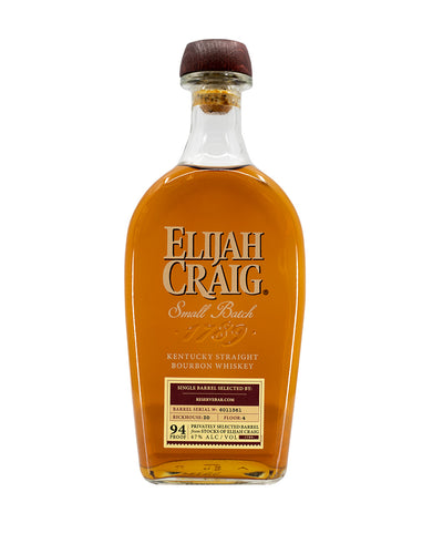 Elijah Craig Small Batch (ReserveBar Privately Selected)