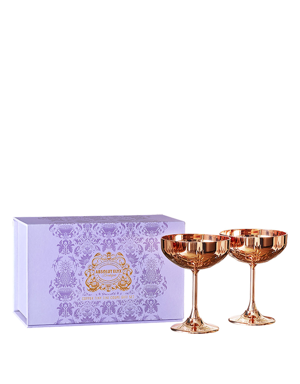 Load image into Gallery viewer, Absolut Elyx Copper Tiny Tini Coupe Gift Set