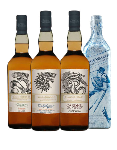 Game of Thrones Single Malt Collection with White Walker by Johnnie Walker (4 bottles)