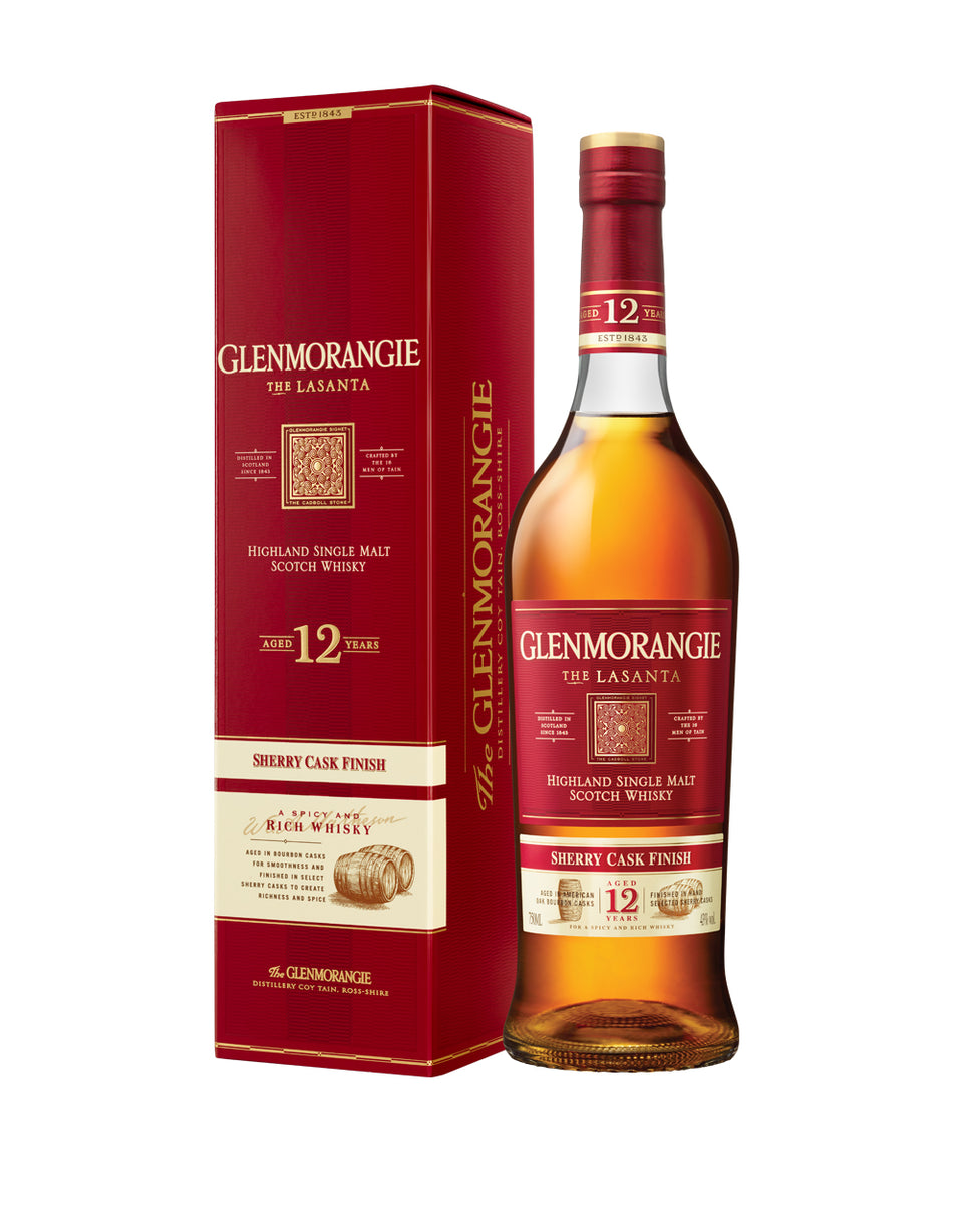 Load image into Gallery viewer, Glenmorangie Lasanta, The Sherry Cask Finish, 12 Years Old Single Malt Scotch Whisky bottle and box