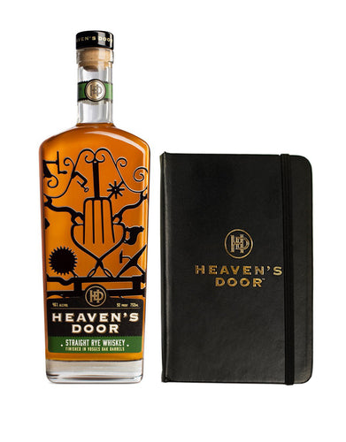 Heaven's Door Straight Rye Whiskey with Branded Journal