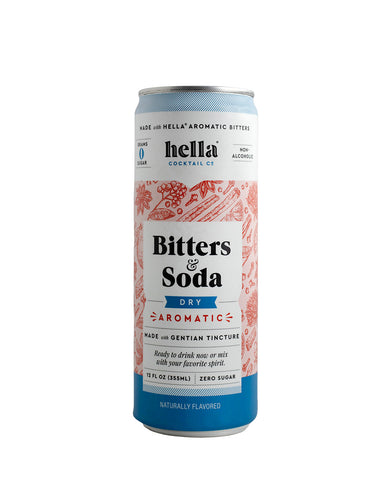 Hella Cocktail Bitters & Soda Dry Aromatic can
