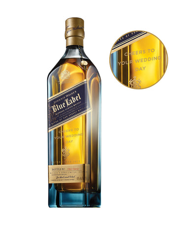 Johnnie Walker Blue Label® - 'Cheers to Your Wedding Day' Engraved Bottle