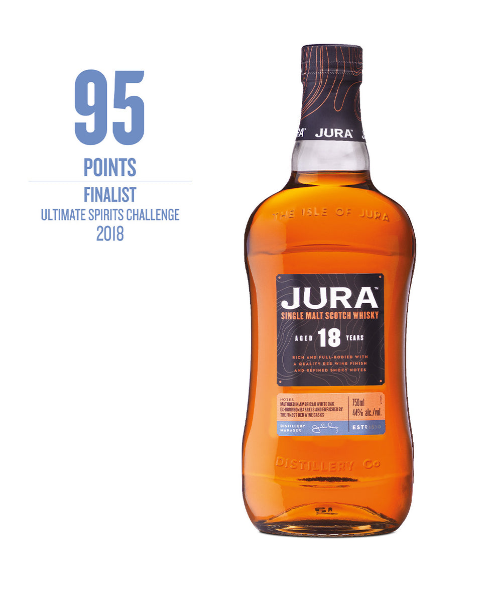 Load image into Gallery viewer, Jura 18-Year-Old Single Malt Scotch Whisky bottle