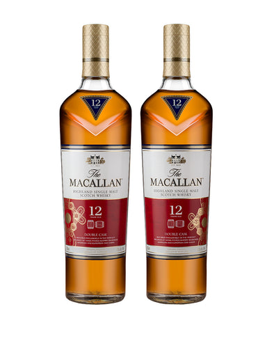 The Macallan Double Cask 12 Years Old Single Malt Scotch Whisky: Year of the Rat Gift Set bottles