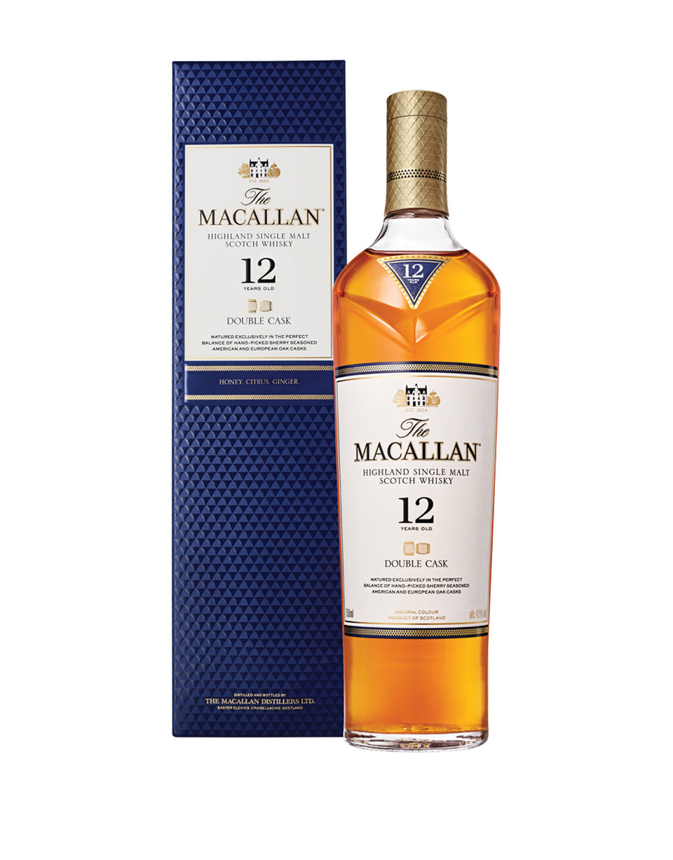Load image into Gallery viewer, The Macallan® Double Cask 12 Years Old Single Malt Scotch Whisky bottle and box