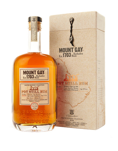 Mount Gay Pure Pot Still 2009 Rum bottle and case
