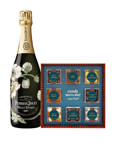 Perrier-Jouët Belle Epoque Vintage with Sugarfina Vice Collection 8pc Candy Bento Box