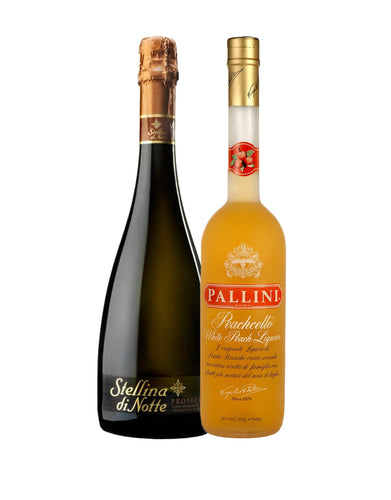 Pallini Peachcello with Stellina Di Note Prosecco