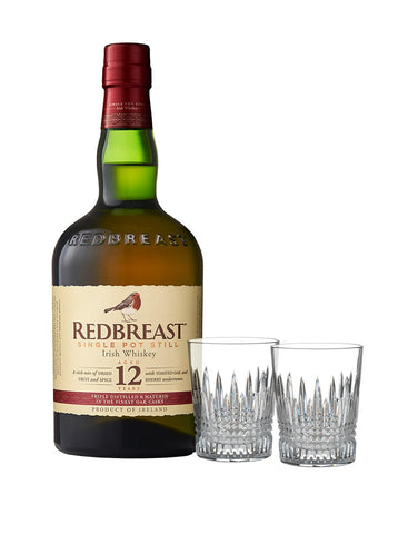 Redbreast 12 Year Old with Waterford Lismore Diamond Tumbler Set