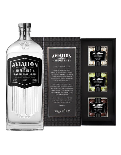 Aviation American Gin with 3pc Sugarfina® Candy Bento Box