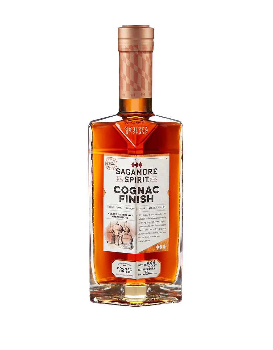 Load image into Gallery viewer, Sagamore Spirit Cognac Finish Rye Whiskey bottle