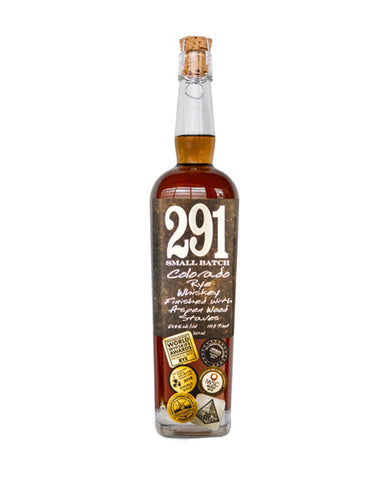 291 Colorado Rye Whiskey, Finished with Aspen Wood Staves, Small Batch