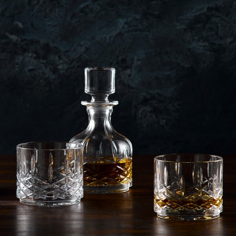 Markham by Waterford Stacking Decanter & Tumbler Set of 2