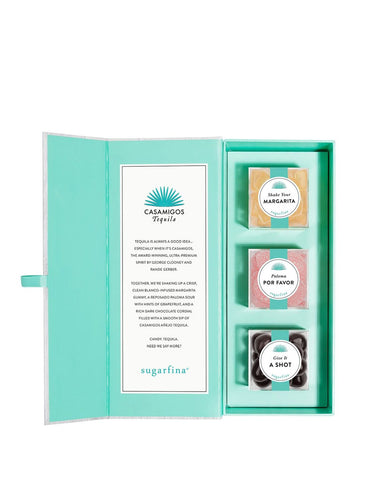 Load image into Gallery viewer, Casamigos Blanco 750ml with Sugarfina x Casamigos Tequila Candy Bento Box