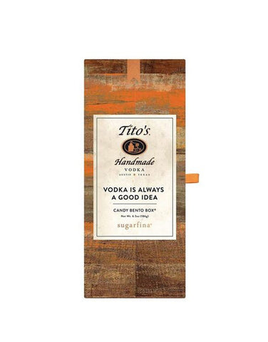 Load image into Gallery viewer, Tito's Handmade Vodka 750ml with Sugarfina x Tito's Handmade Vodka Candy Bento Box