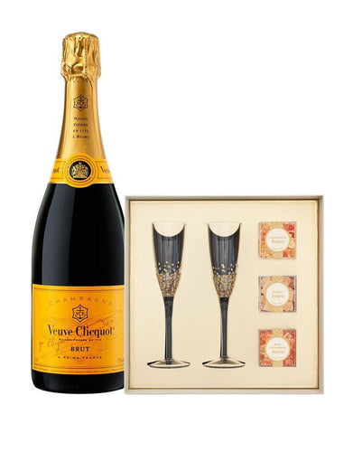 Veuve Clicquot Yellow Label 750ml with Sugarfina Pop the Champagne Gift Set
