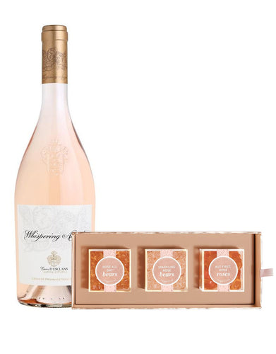 Whispering Angel with Sugarfina Rosé All Day 3pc Bento Box