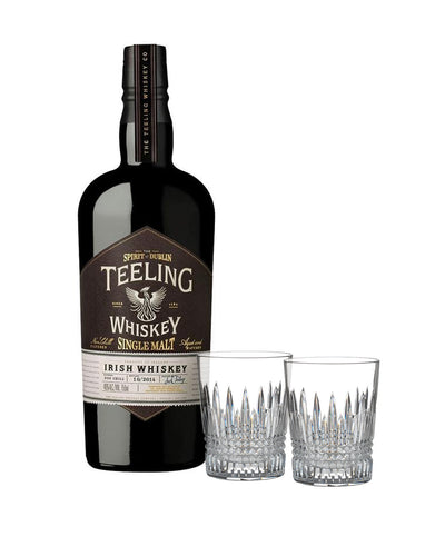 Teeling Single Malt Irish Whiskey with Waterford Lismore Diamond Tumbler Set