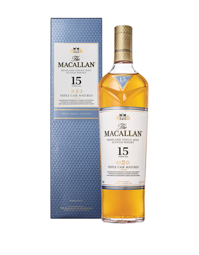 The Macallan Triple Cask Matured 15 Years Old single malt Scotch whisky bottle