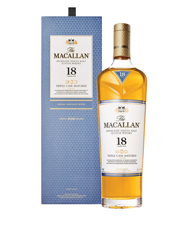 The Macallan Triple Cask Matured 18 Years Old single malt Scotch whisky bottle