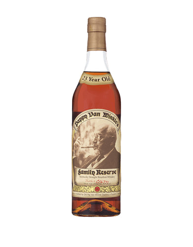Pappy Van Winkle's Family Reserve 23 Year Old Bourbon Whiskey bottle