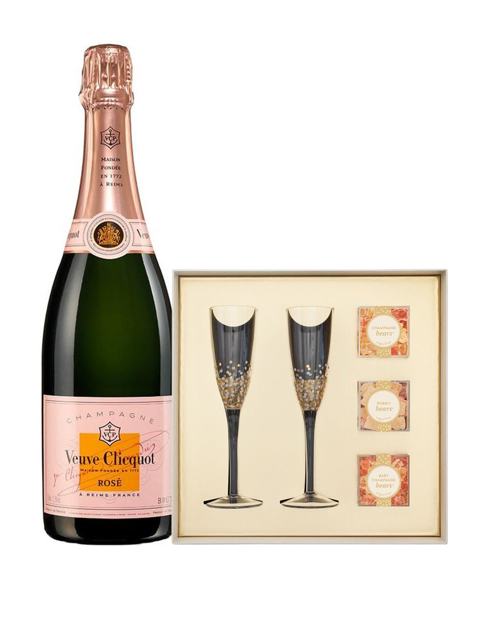 Load image into Gallery viewer, Veuve Clicquot Rosé 750ml with Sugarfina Pop the Champagne Gift ...