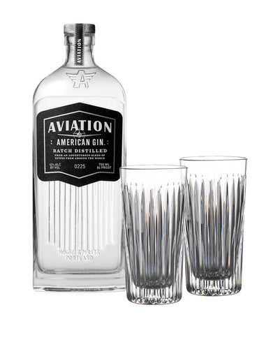 Aviation American Gin with Waterford Gin Journeys Aras Hiball Pair